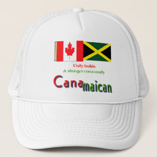 jamaican-canadian roots trucker hat