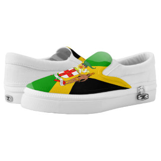 Jamaican Coat of arms Slip-On Shoes