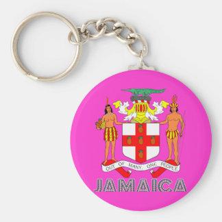Jamaican Emblem Key Ring