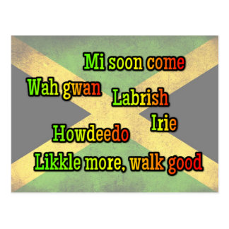 Jamaican expressions postcard