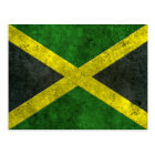Jamaican Flag Aged Steel Effect Postcard