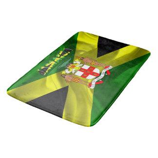 Jamaican flag bath mat