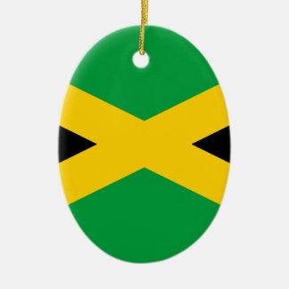 Jamaican Flag Ceramic Ornament