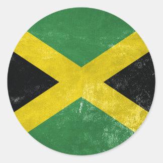Jamaican Flag Classic Round Sticker