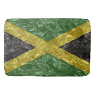 Jamaican Flag - Crinkled Bath Mat
