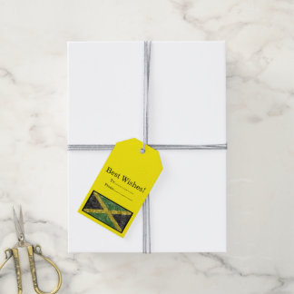 Jamaican Flag - Crinkled Gift Tags