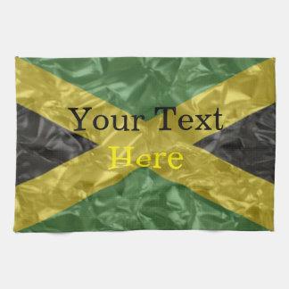 Jamaican Flag - Crinkled Tea Towel