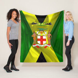 Jamaican flag fleece blanket