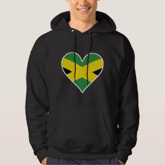 Jamaican Flag Heart Hoodie