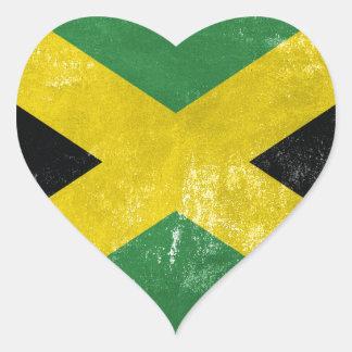 Jamaican Flag Heart Sticker