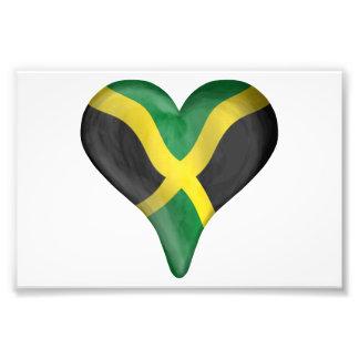 Jamaican Flag In A Heart Photo