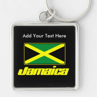 Jamaican Flag, Personalized Deluxe Keychain