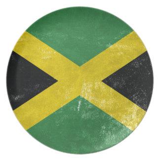 Jamaican Flag Plate