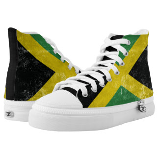 Jamaican Flag Printed Shoes