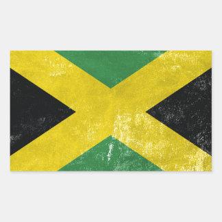 Jamaican Flag Rectangular Sticker