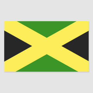 Jamaican Flag Rectangular Sticker