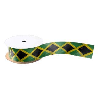 Jamaican Flag Satin Ribbon