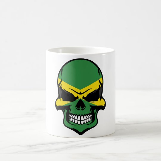 Jamaican Flag Skull Coffee Mug