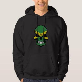 Jamaican Flag Skull Hoodie