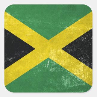 Jamaican Flag Square Sticker