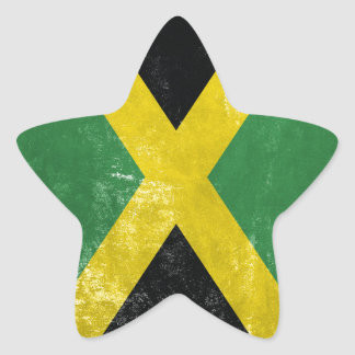 Jamaican Flag Star Sticker