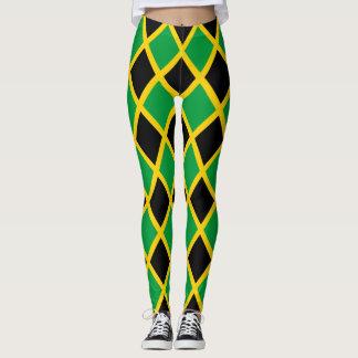 Jamaican Flag tiled Leggings