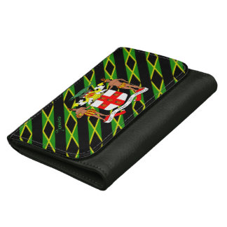 Jamaican flag wallet for women