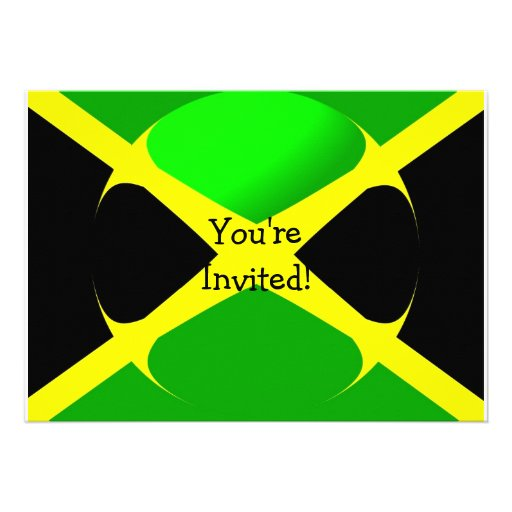 Jamaican Flag With Bubble Invitation