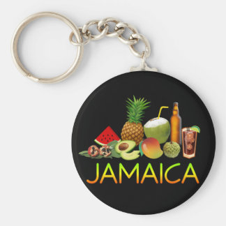 Jamaican food key ring