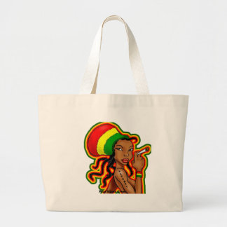 jamaican girl large tote bag