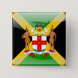 Jamaican glossy flag 15 cm square badge