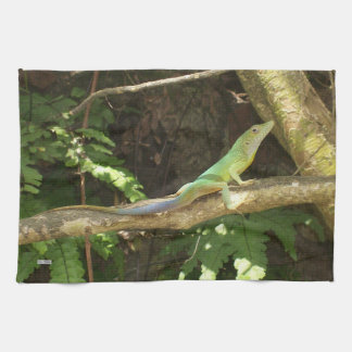 Jamaican Green Lizard Tea Towel