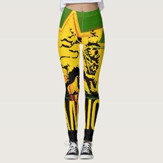 Jamaican Leggings Lion of Judah Design