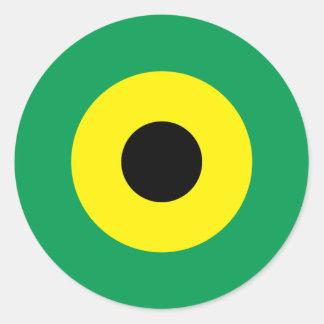 Jamaican Mod Round Sticker 2