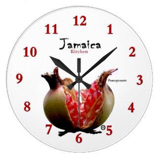 Jamaican Pomegranate Modern Wall Clock Gift ...!!!