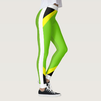Jamaican Pride Flourescent Leggings