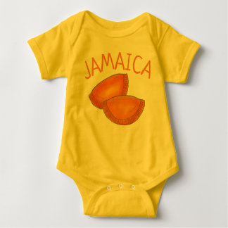 Jamaican Spicy Beef Patty Patties Jamaica Pastry Baby Bodysuit