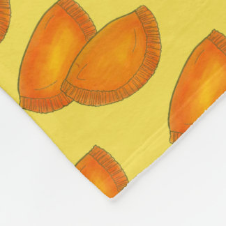 Jamaican Spicy Beef Patty Patties Jamaica Pastry Fleece Blanket