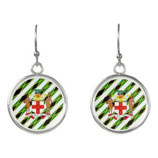 Jamaican stripes flag earrings