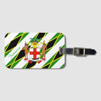 Jamaican stripes flag luggage tag