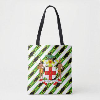 Jamaican stripes flag tote bag