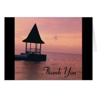 Jamaican Sunset Thank You Greeting Card