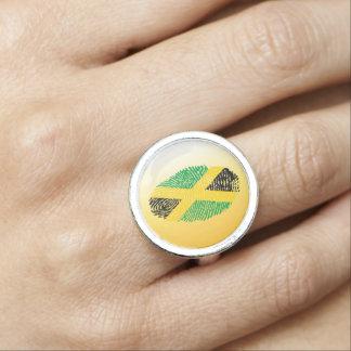 Jamaican touch fingerprint flag
