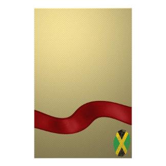 Jamaican touch fingerprint flag customised stationery