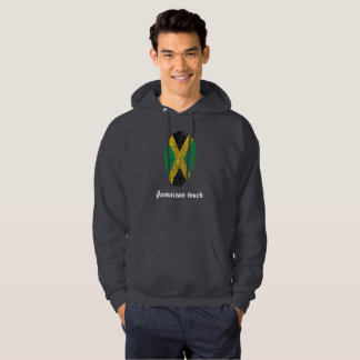 Jamaican touch fingerprint flag hoodie