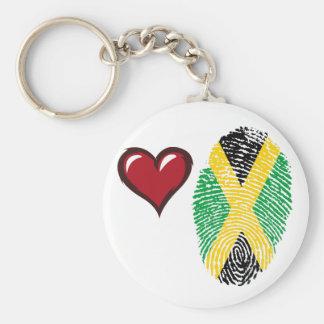 Jamaican touch fingerprint flag key ring