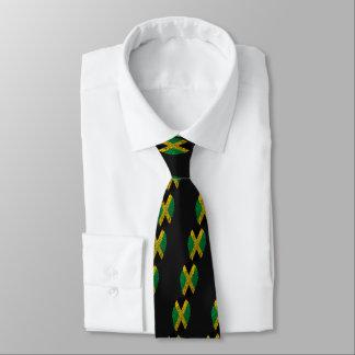 Jamaican touch fingerprint flag tie