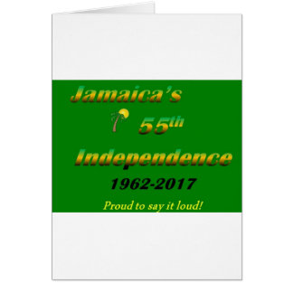 Jamaica's  55th Independence (Green) Card