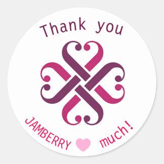 Jamberry thank you mailing envelope seals round sticker