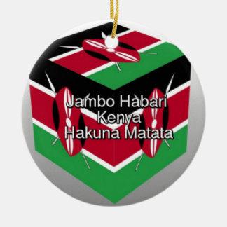 Jambo Habari ! Kenya Hakuna Matata Ceramic Ornament
